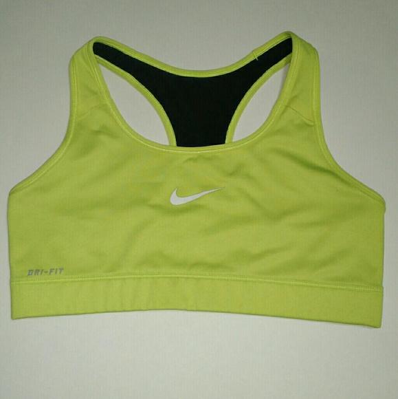 a8f20418d3237 Nike Dri-fit Neon Yellow Sports Bra Top